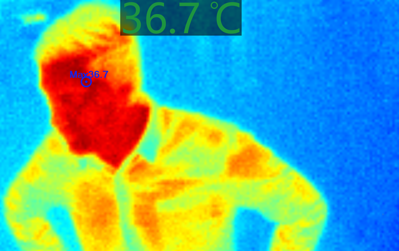 InfraSpector thermal imaging screen image